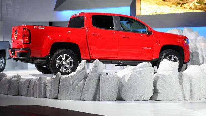 Chevrolet unveiled the new Colorado pick up truck at the L.A. Auto Show last year