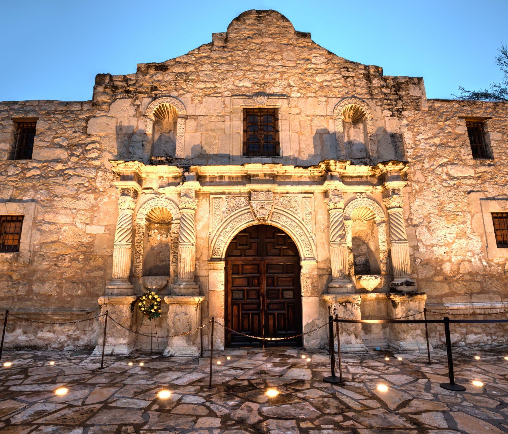 The Alamo Mission in San Antonio.