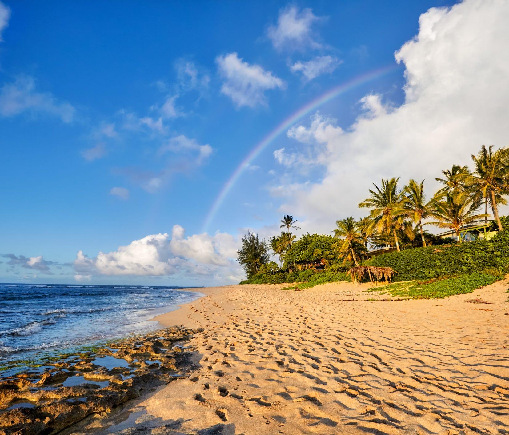 Sunset Beach, North Shore, Oahu, Hawaii.