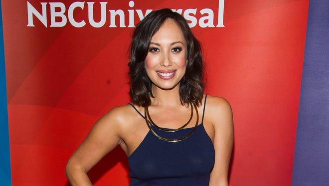 In this June 24, 2015, file photo, Cheryl Burke arrives at the NBCUniversal New York Summer Press Day event at The Four Seasons Hotel in New York.