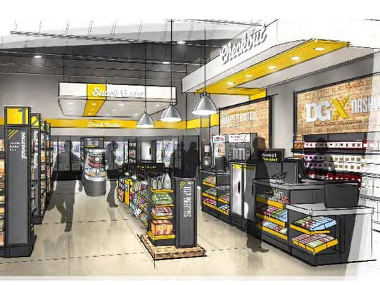 An entry view inside the DGX store. One is planned at 21st and West End in Nashville.