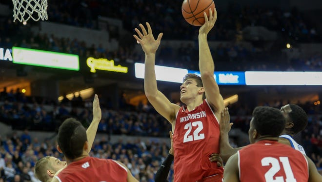 Ethan Happ and Wisconsin, struggled to find scoring opportunities inside on Tuesday night.