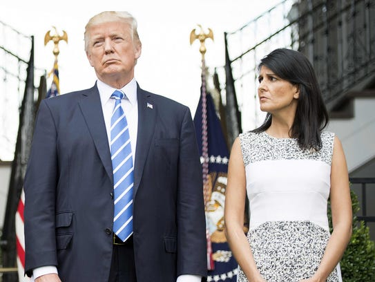 US President Donald Trump and US Ambassador to the