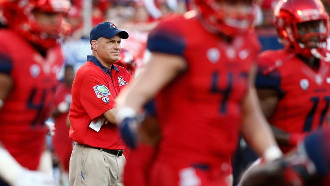 Fired University of Arizona head football coach Rich Rodriguez.