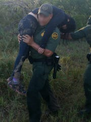 Border Patrol agents found an undocumented immigrant in need of medical care near Falfurrias.