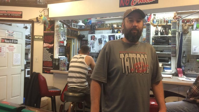 Gavin Bowe, owner of In Your Face Tattooz in Fond du Lac, recently began using Tatt2Away, a non-laser tattoo removal process.