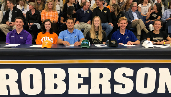 Six Roberson High School athletes signed letters of