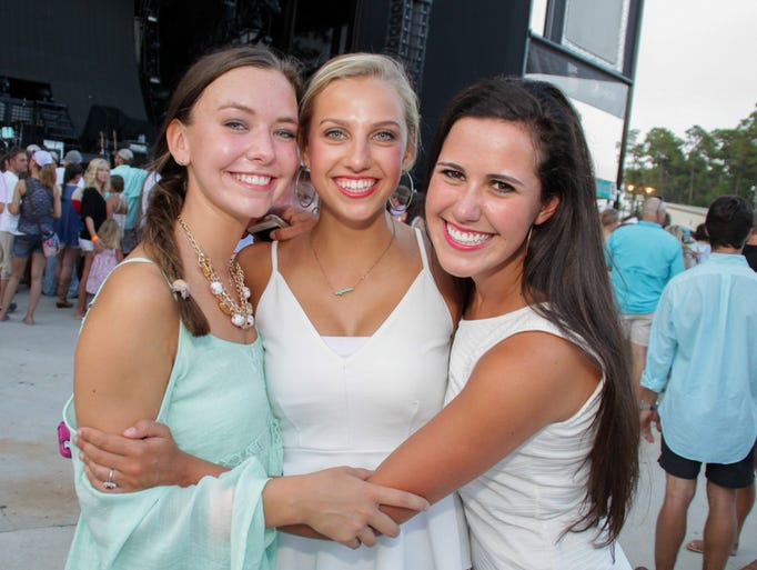 Fans have fun during the Dierks Bentley concert at The Amphitheatre at The Wharf in Orange Beach, Ala. Thursday night.