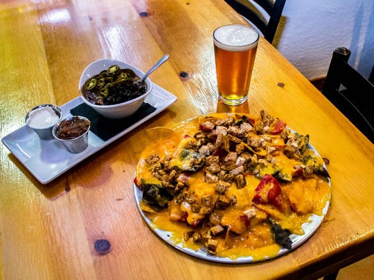 The 5-layer nacho dip at Four Peaks Brewing Company