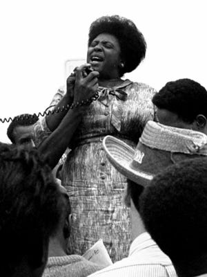 Fannie Lou Hamer was born on Oct. 6, 1917. After joining the civil rights movement, she became a fearless leader, her singing inspiring those in the movement. She burst onto the national scene in 1964 when she challenged the all-white Mississippi delegation at the 1964 Democratic National Convention.