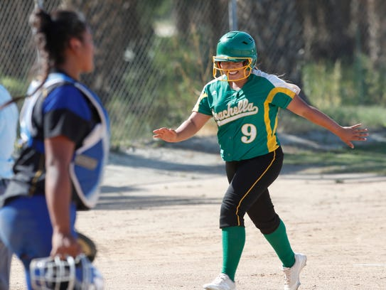 Coachella Valley High School's Kayla Huerta smiles