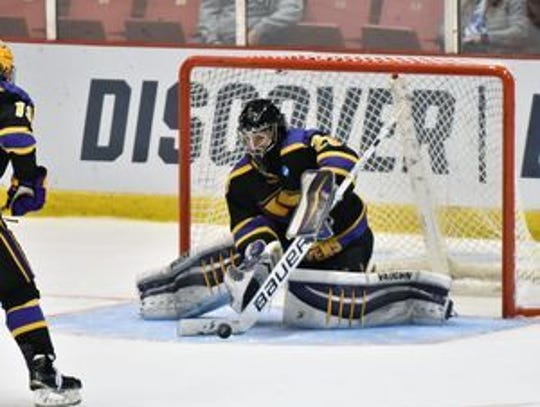 UW-Stevens Point senior Max Milosek, who was the goalie when the Pointers won the NCAA Division III national championship in 2016, ranks eighth nationally with a 1.85 goals against average.