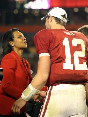 Condoleezza Rice is officially a member of the College Football Playoff selection committee.