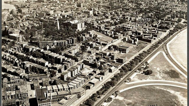 Here's an aerial view of South Boston as it was in 1925. See more photos at Digital Commonwealth at www.digitalcommonwealth.org.