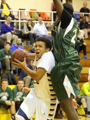 Notre Dame's Derrick Stark drives to the basket last