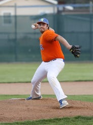 Thomas A. Edison's Zach Braster delivers a pitch to