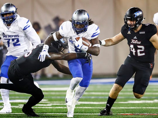 University of Memphis running back Darrell Henderson