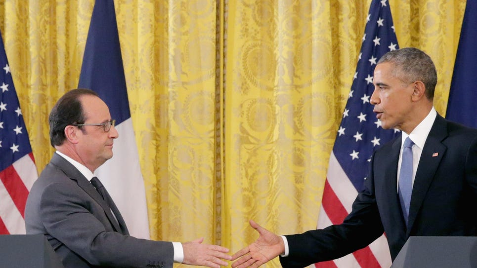 President Obama Meets With French President Hollande At The White House