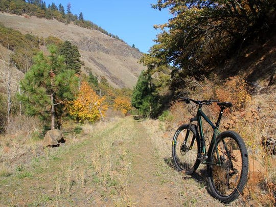 One of the most remote and beautiful sections of the Klickitat Trail is the Swale Canyon. The trail is located in the Columbia River Gorge, near the small town of Lyle, Wash.