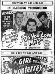 This ad for the Broad theater ran in the April 7, 1947