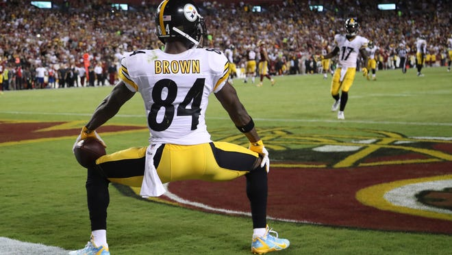 Antonio Brown was penalized for this last season.