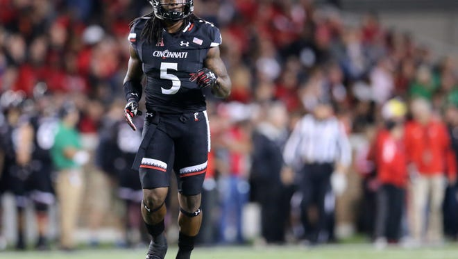 Cincinnati Bearcats running back Mike Boone returned to action last week against Marshall. Boone missed the previous two games with an ankle injury.