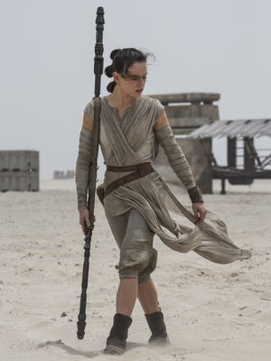 Rey (Daisy Ridley) in 'Star Wars: The Force Awakens.' The sci-fi blockbuster did record-breaking box office again in its second week.