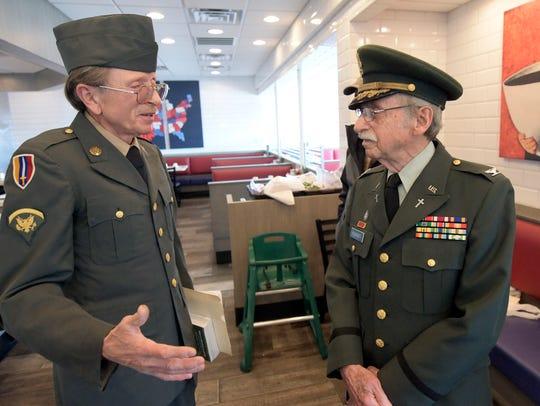 Phil Kissinger and John Bennett, left, reunite for