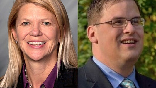 State Rep. Sharon Negele and Mike Childress