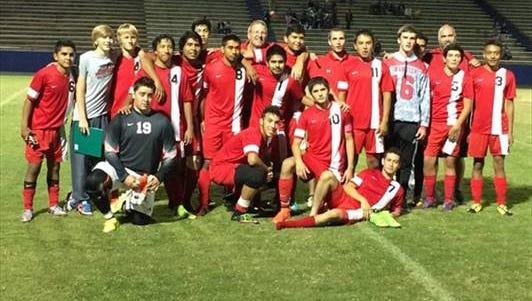 Franklin's boys soccer team.