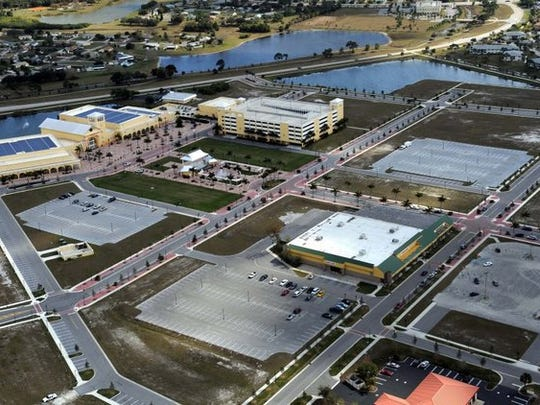 Aerial view of City Center in Port St. Lucie.