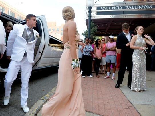 Central York students and their guests arrive for prom