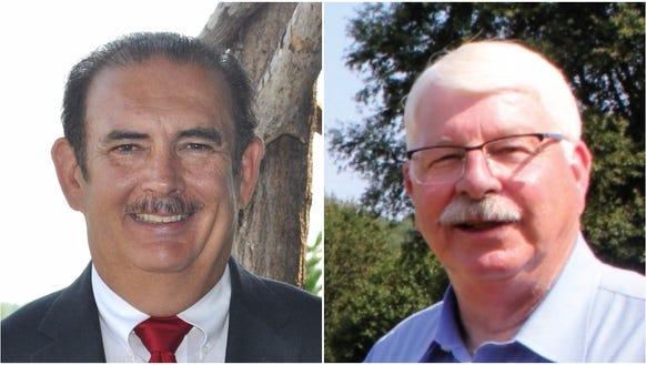 Walter Smith, left, and Steve Troxler