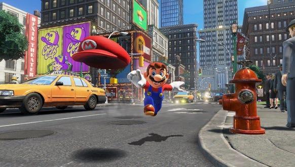 A scene from 'Super Mario Odyssey.'
