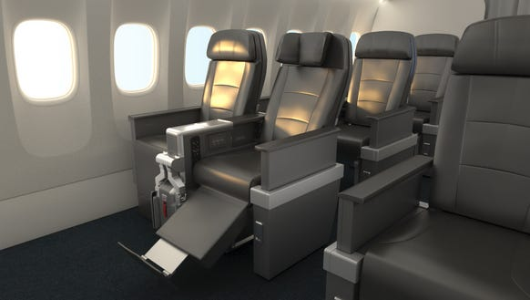 American unveils new international premium economy cabin for International seating and decor