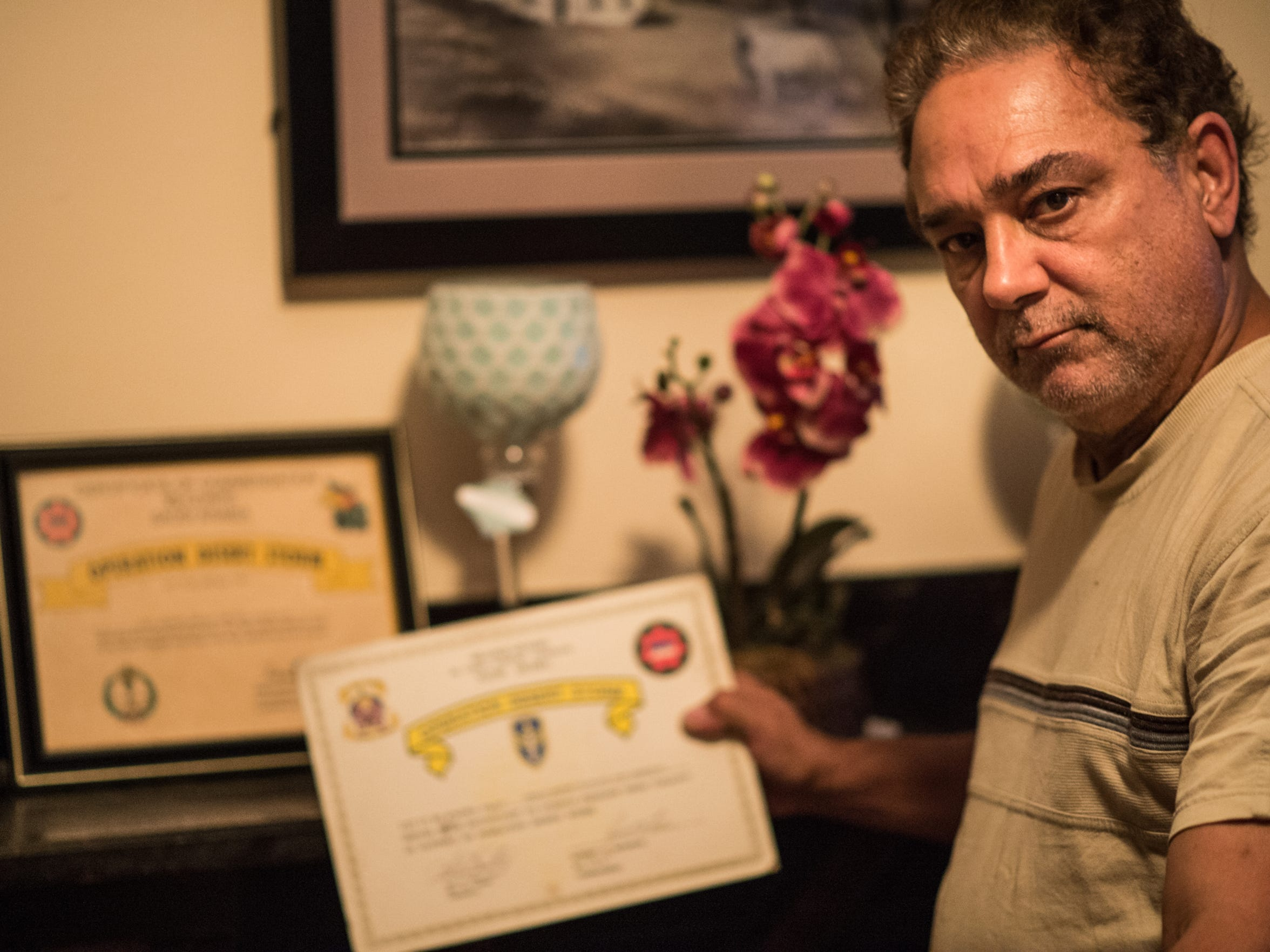 Arquelio Martinez, was a staff sergeant in Army National Guard and served in Operation Desert Storm.  He has a variety of neck and spinal issues related to his active National Guard service in the first Gulf War, and isn't satisfied with VA coverage.