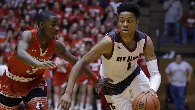17-year-old Romeo Langford of New Albany has a big decision to make next year. College coaches are courting him.