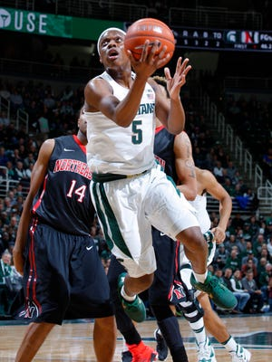 Cassius Winston's 6 assists a game leads the Big Ten.