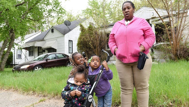 Sabrina Witcher says she has already talked with her children about gun safety. Shown here are daughters Amber Witcher, 1, left, Ter'ryah Knott, 4, and Kamryn Witcher, 2.