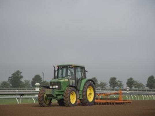 Keeneland's new dirt surface. Photo courtesy Keeneland.