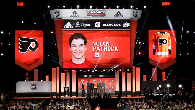 The Flyers selected Nolan Patrick with the second-overall pick Friday night.