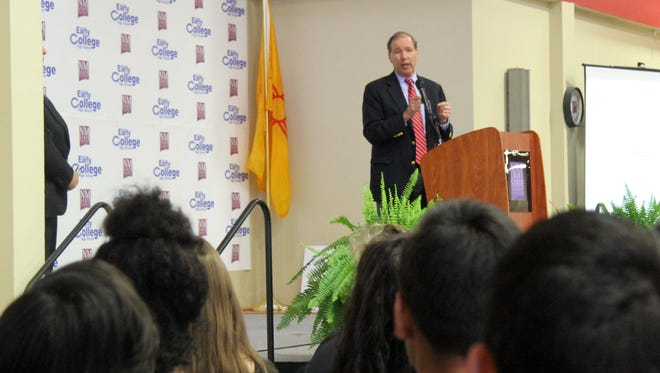 Senator Tom Udall spoke about the importance of conservation during his visit to Carlsbad on Thursday morning.
