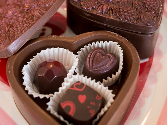 Special Valentine's Day themed heart-shaped boxes made
