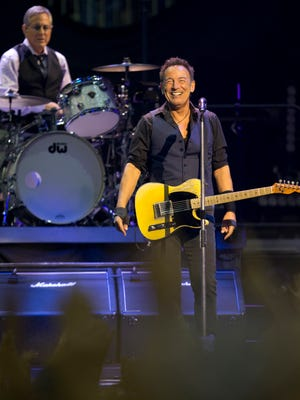Bruce Springsteen and the E Street Band perform, Sunday, January 31, 2016, at the Prudential Center in Newark.