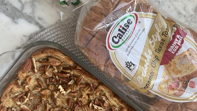 Cinnamon Chip Casserole is one of three recipes shared by Calise Bakery that utilizes its new breakfast bread.
