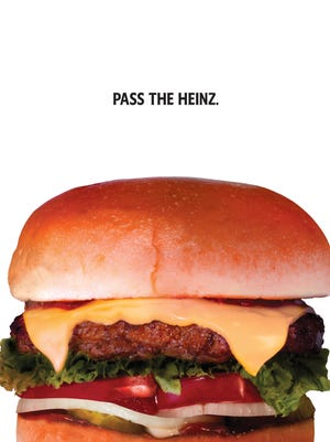 """This photo provided by Heinz shows a Heinz ketchup ad inspired by the TV show """"Mad Men."""""""