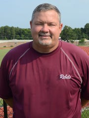 Pineville High School football coach Robbie Martin