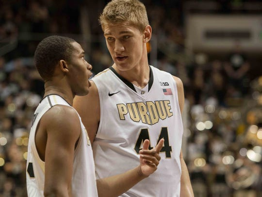 Being 7-feet tall is always an advantage. Just ask Purdue's Isaac Haas about long flights.