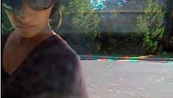 A surveillance camera captures an image of the fraud suspect at Dupont Community Credit Union on July 23, 2016, in Staunton, Virginia.