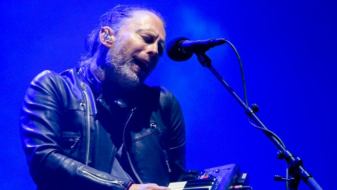 Not even Thom Yorke and his portable keyboard could save  Radiohead's sound-plagued set.